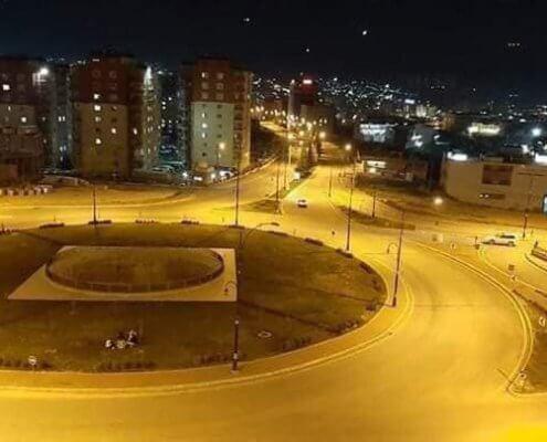 Leere Straßen in Dokuk