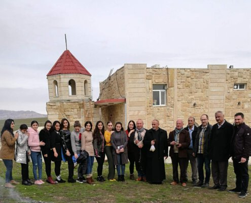 Februar 2020: Projektleiter Matthias Schüttler besucht einen armenischen Gottesdienst im Irak
