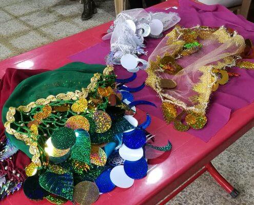 Dekorative Elemente, die an einer Hochzeit verwendet werden